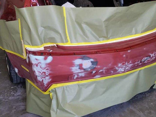 cadillac bumper repair at antonios customs auto body and paint in miramar